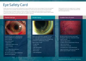Emergency Eye Card